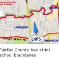 Fairfax County has strict school boundaries
