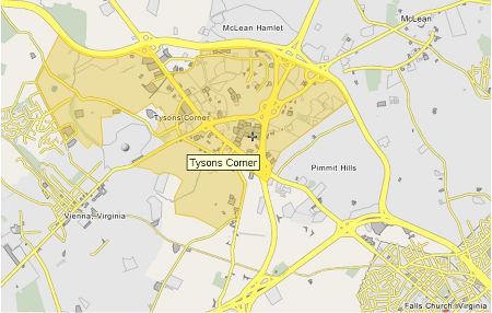 Map of Tysons Corner