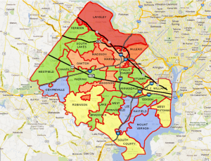 Fairfax County High School Boundaries Map