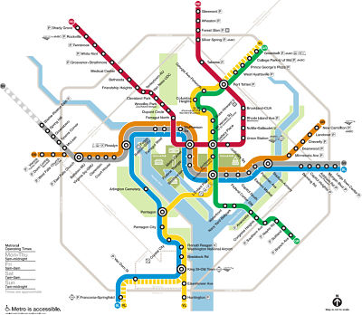 Metro System Map with new Silver Line