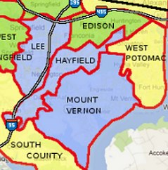 Fairfax County School boundaries with best home values