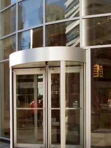 The DC area revolving glass door