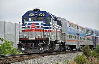 VRE Virginia Railway Express Commuter Train