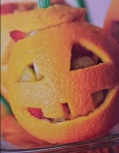 Fruit-filled Jack-o-Lantern Oranges