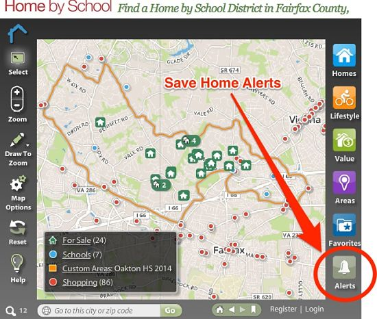 Save Alerts on the Home by School App