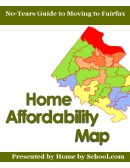 Fairfax VA Home Affordability Map by Fairfax High School boundary