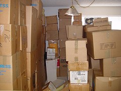A house-full of packed boxes