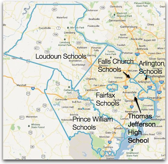 Thomas Jefferson High School Participating School Districts in Northern Virginia