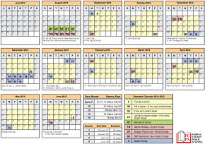 The new FCPS school Calendar includes several student holidays